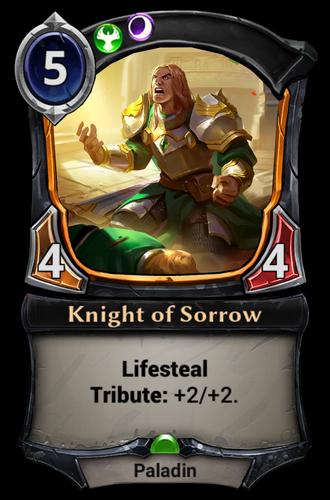 Knight of Sorrow card