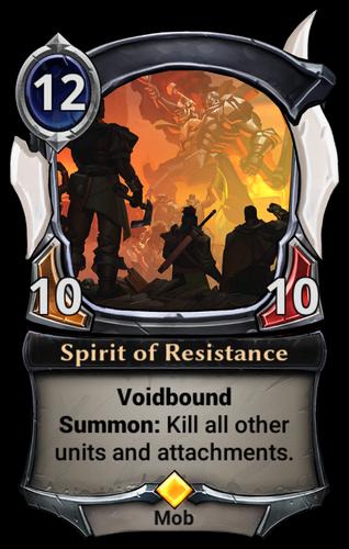 Spirit of Resistance card