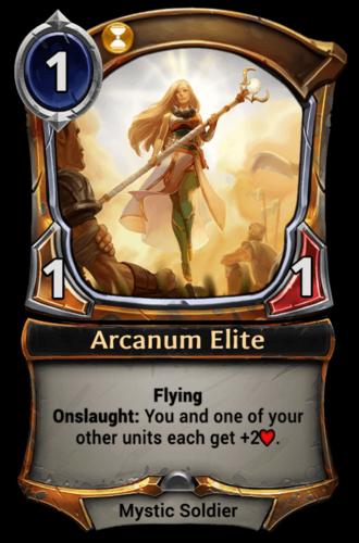 Arcanum Elite card