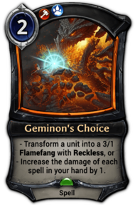Geminon's Choice