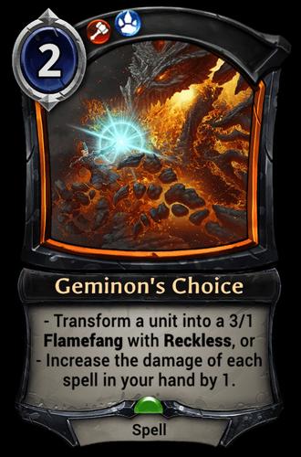 Geminon's Choice card