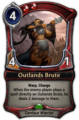 Outlands Brute card