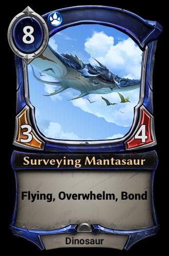 Surveying Mantasaur card