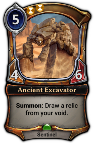 Ancient Excavator card