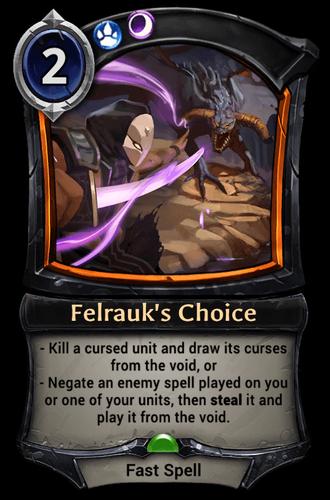 Felrauk's Choice card