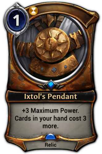 Ixtol's Pendant card
