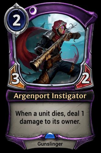 Argenport Instigator card