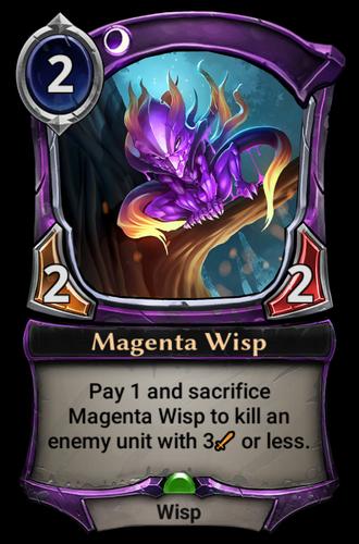 Magenta Wisp card