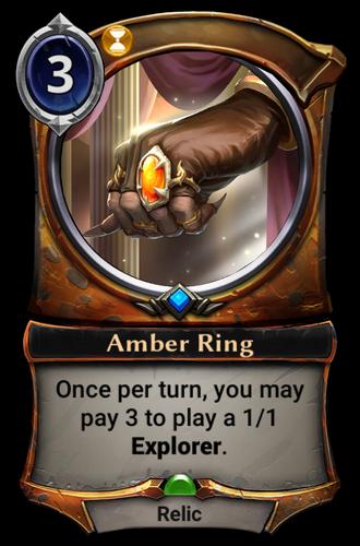 Amber Ring card
