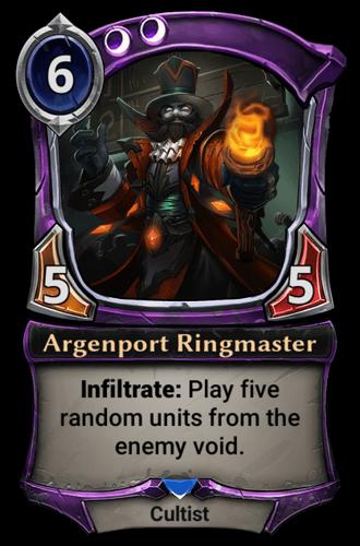 Alternate-art Argenport Ringmaster card