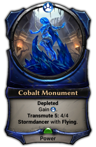 Cobalt Monument card