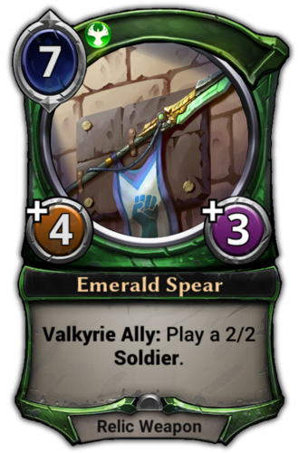 Emerald Spear card