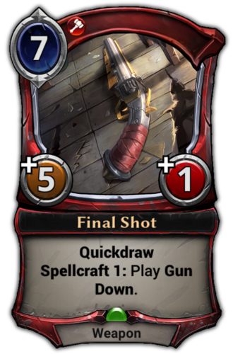 Final Shot card