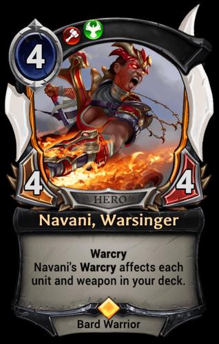 Navani, Warsinger card