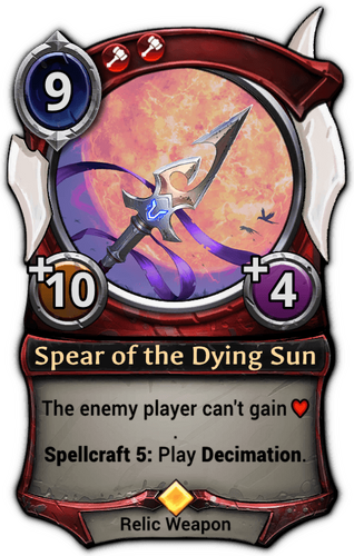Spear of the Dying Sun card