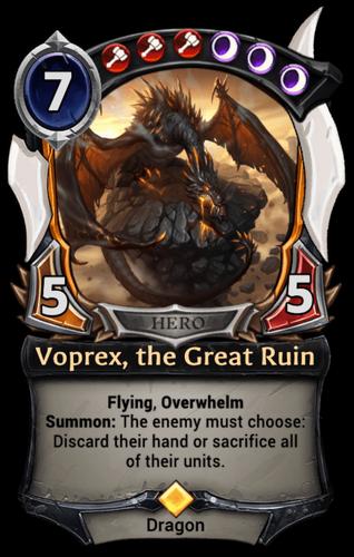 Voprex, the Great Ruin card