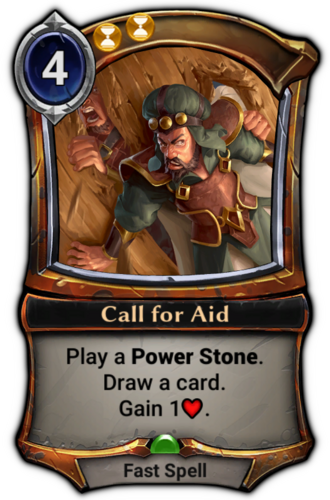 Call for Aid card