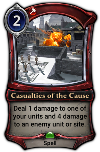 Casualties of the Cause card