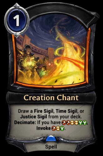Creation Chant card