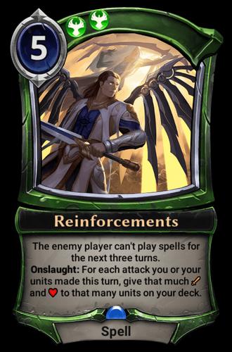 Reinforcements card