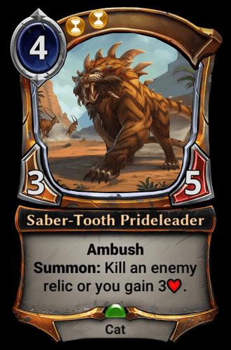 Saber-Tooth Prideleader card