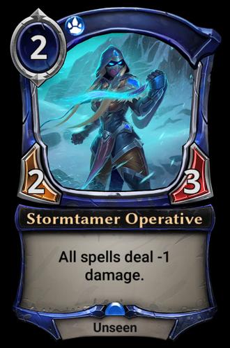 Stormtamer Operative card