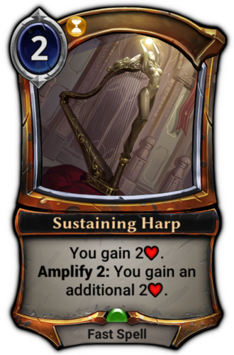 Sustaining Harp card