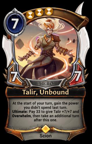 Talir, Unbound card
