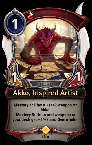 Akko, Inspired Artist card