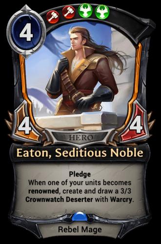 Eaton, Seditious Noble card