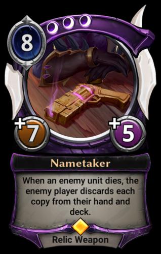 Nametaker card