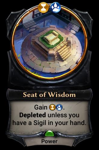 Seat of Wisdom card