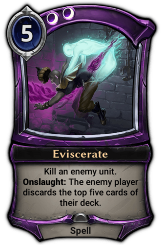 Eviscerate card