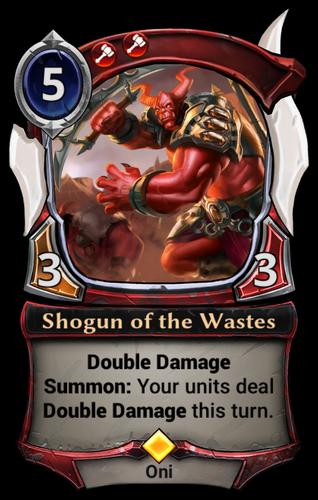 Shogun of the Wastes card