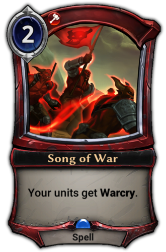 Song of War card