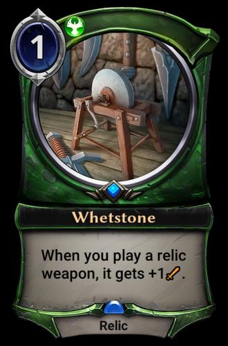 Whetstone card