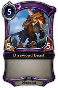 Patch 1.35 version of Direwood Beast.