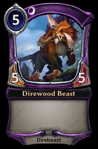 Direwood Beast card