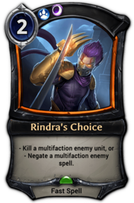 Rindra's Choice