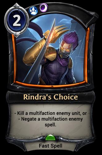 Rindra's Choice card