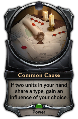 Common Cause card