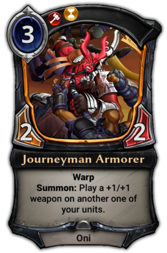 Journeyman Armorer card