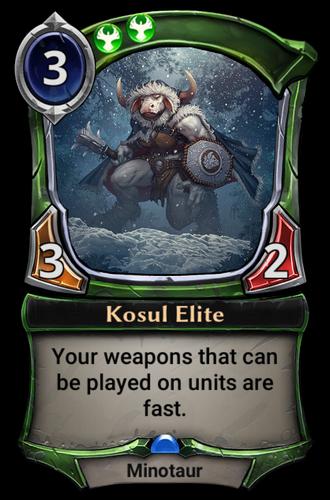 Kosul Elite card