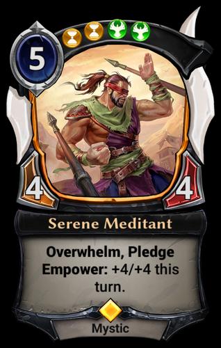 Serene Meditant card