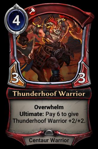 Thunderhoof Warrior card