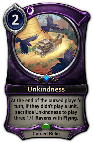 Unkindness card