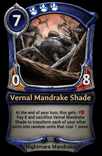 Vernal Mandrake Shade card