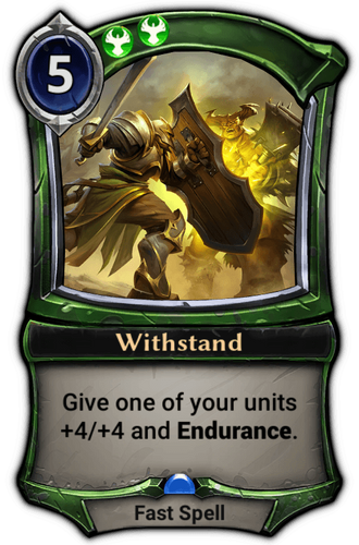 Withstand card