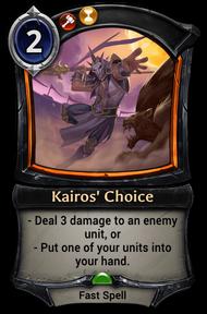Kairos' Choice