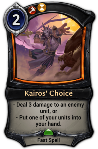 Kairos' Choice card